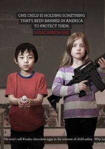 Advertisement on Banning Guns for Children's Protection in America