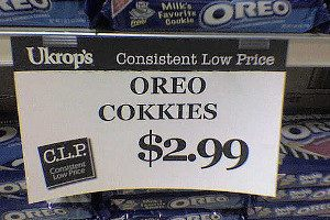 Sign in Supermarket with Cookies spelt incorrectly